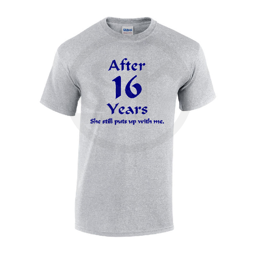 After 15 years she/he still puts up with me, Anniversary Unisex Funny T-Shirts Tees Tops
