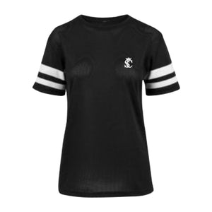 Men's Women's Sports Mesh Stripe T-shirt Tees Tops