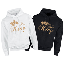 Load image into Gallery viewer, Her King Couples matching adult Hoodies