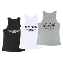 Load image into Gallery viewer, Friends Themed Hen Night Bachelor Party Ladies T-shirt Tees Vest Tank Tops