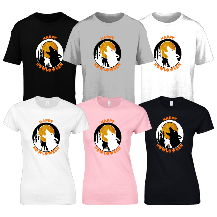 HAPPY HAWLOWEEN Mens Unisex Ladies fitted T-Shirts Tops Tees UK