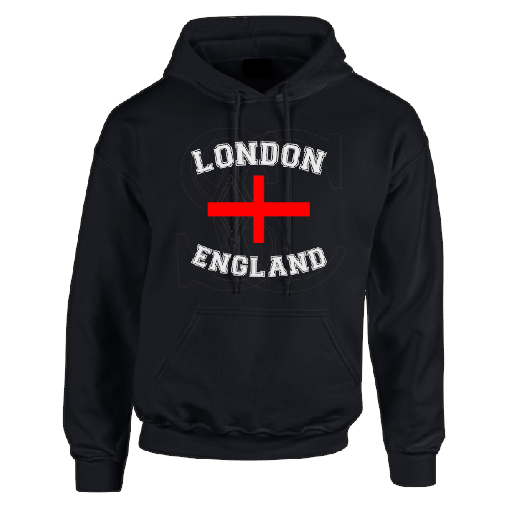 London England with st.georges cross  Unisex Hoodie