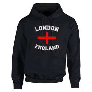 Open image in slideshow, London England with st.georges cross  Unisex Hoodie