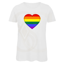 Load image into Gallery viewer, Love Heart Ladies T-Shirt