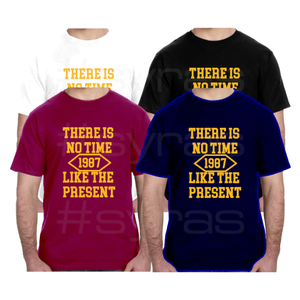 Open image in slideshow, There is no time like the Present Men Women Unisex T-Shirt