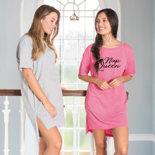 Load image into Gallery viewer, Custom Printed Gals oversized sleepy T-shirt