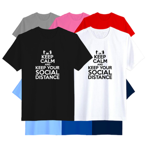Open image in slideshow, Keep Calm and Social Distance T-Shirt