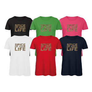 """Spice Up Your Life"" Leopard Printed Ladies Unisex T-Shirts Tees Tops"