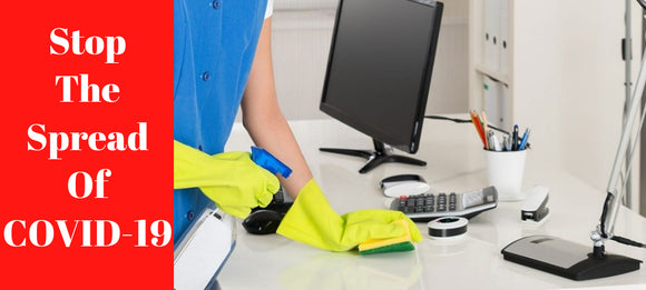 Stop The Spread! Tips for a safer, cleaner work space!