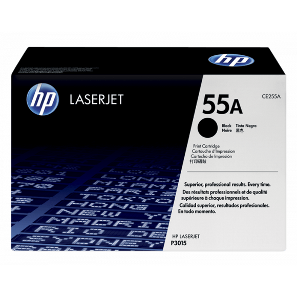 HP 55A Black Toner Cartridge CE255A