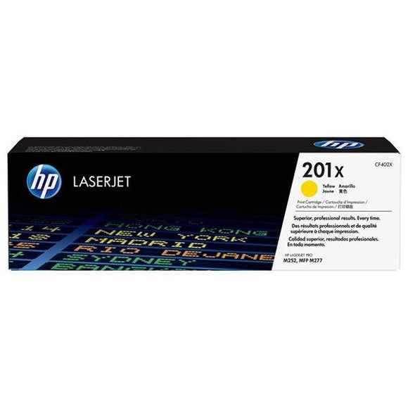 HP 201X Yellow Toner Cartridge CF402X