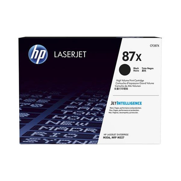 HP 87X Black Toner Cartridge CF287X