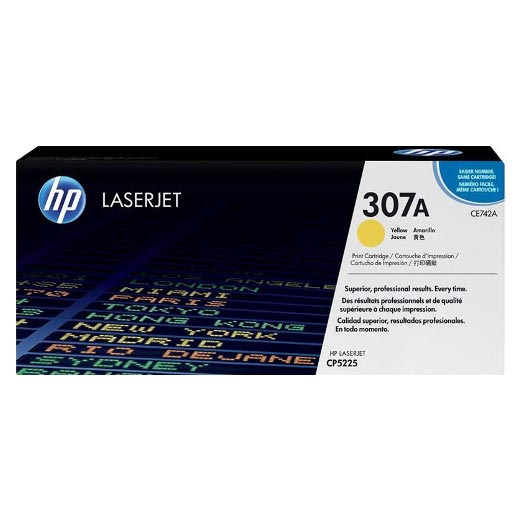 HP 307A Yellow Toner Cartridge CE742A CE742A at $400.79