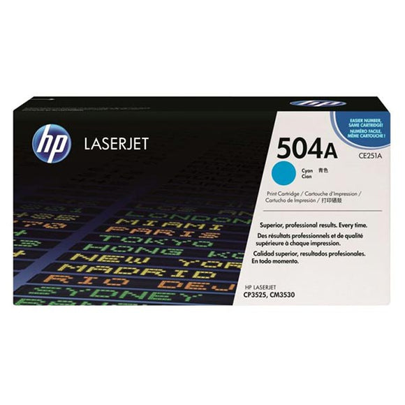 HP 504A Cyan Toner Cartridge CE251A CE251A at $400.16