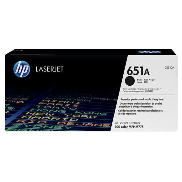 HP 651A Black Toner Cartridge CE340A CE340A at $261.56