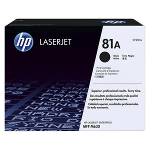 HP 81A Black Toner Cartridge CF281A CF281A at $260.41