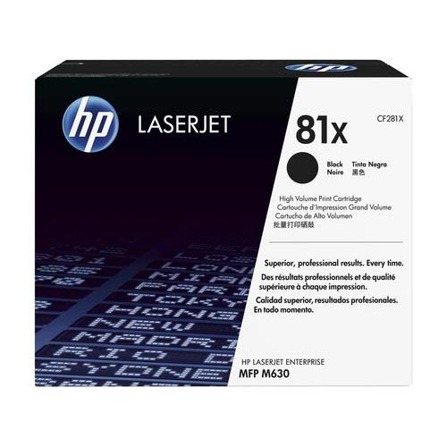 HP 81X Black Toner Cartridge CF281X CF281X at $425.68