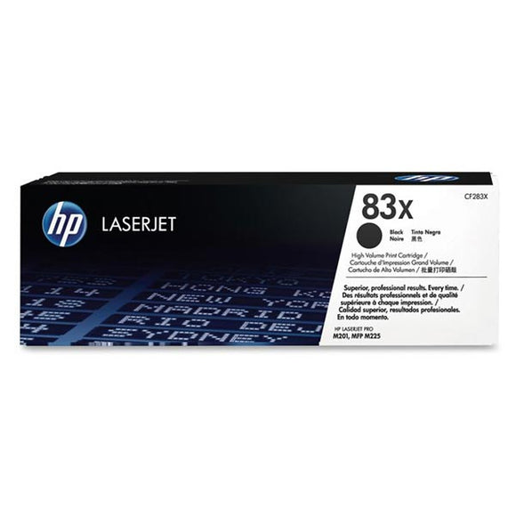 HP 83X Black Toner Cartridge CF283X
