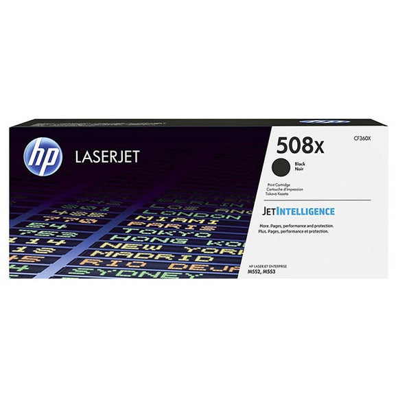 HP 508X Black Toner Cartridge CF360X