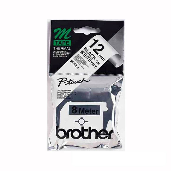 Brother MK231 Black on White Tape Genuine