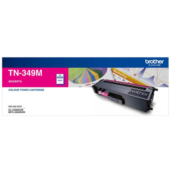 Brother TN-349 Magenta Toner Cartridge TN-349M
