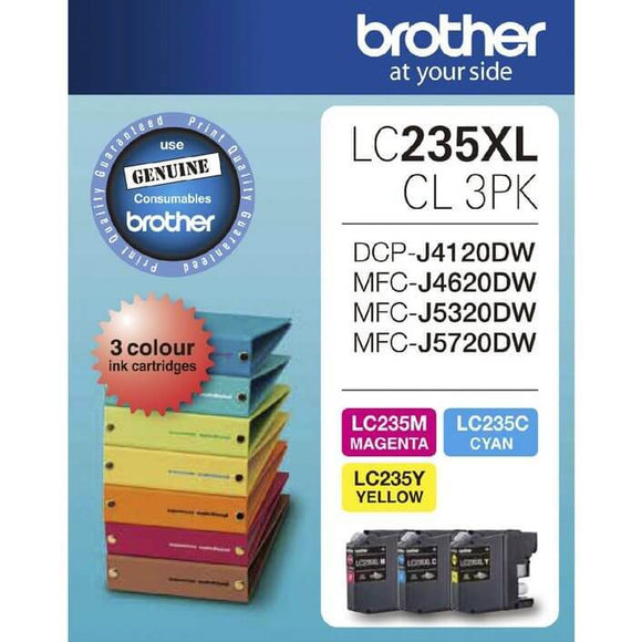 Brother LC-235XL CMY Colour Pack LC-235XLCL3PK LC235XLCL3PK at $101.73