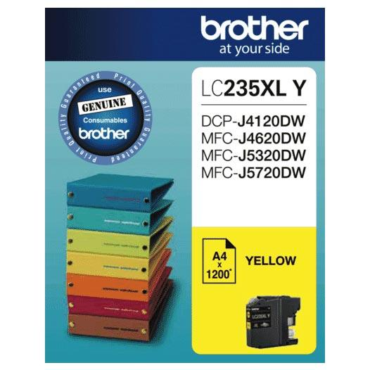 Brother LC-235XL Yellow Ink Cartridge LC-235XLY
