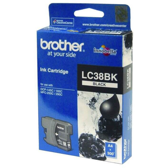 Brother LC-38 Black Ink Cartridge LC-38BK