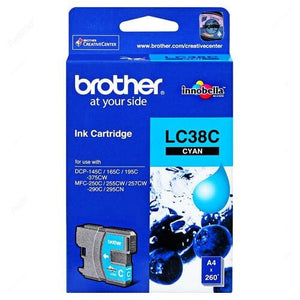Brother LC-38 Cyan Ink Cartridge LC-38C LC38C Brother, Ink Cartridges
