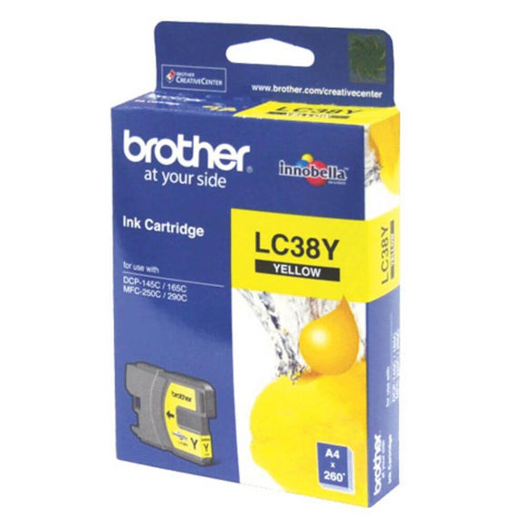 Brother LC-38 Yellow Ink Cartridge LC-38Y
