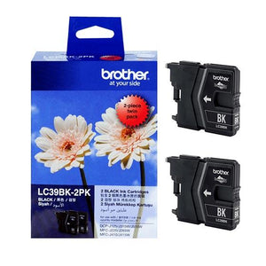 Brother LC-39 Black Ink Cartridge Twin Pack LC-39BK2PK LC39BK2PK Brother, Ink Cartridges