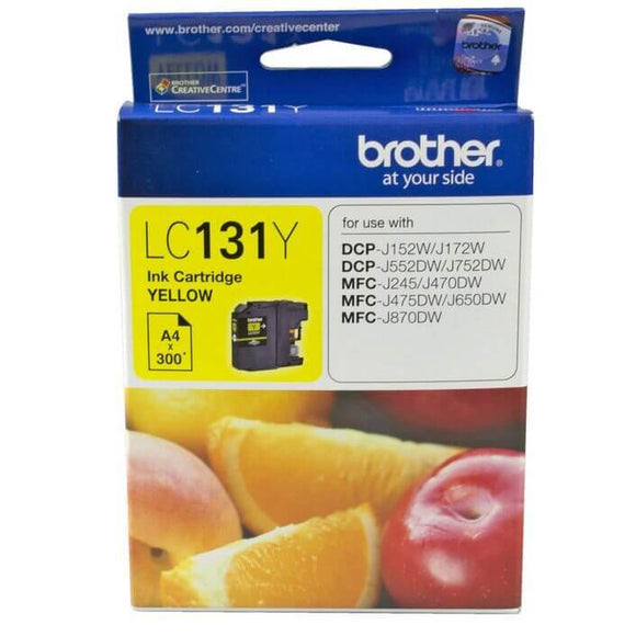 Brother LC-131 Yellow Ink Cartridge LC-131Y