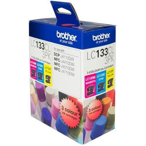 Brother LC-133 CMY Ink Pack LC-133CL3PK