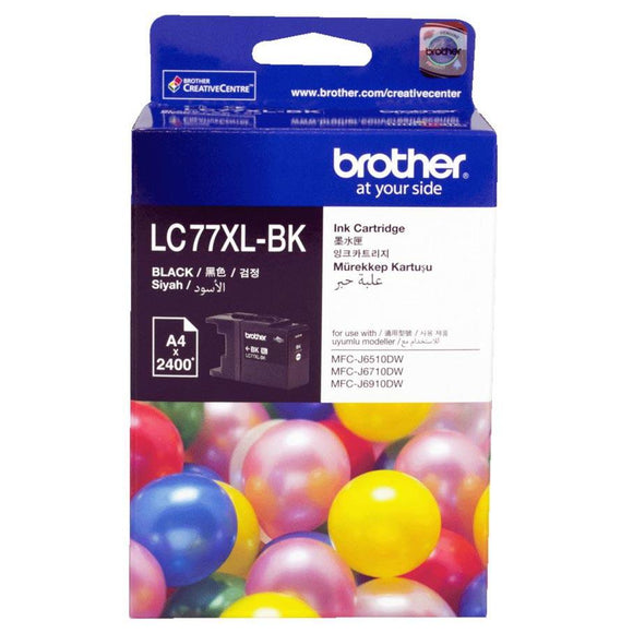 Brother LC-77XL Black Ink Cartridge LC-77XLBK LC77XLBK at $67.30
