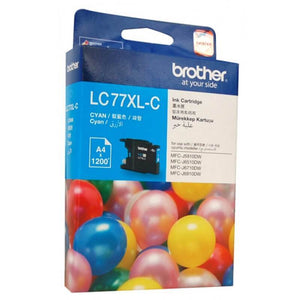 Brother LC-77XL Cyan Ink Cartridge LC-77XLC LC77XLC at $42.33