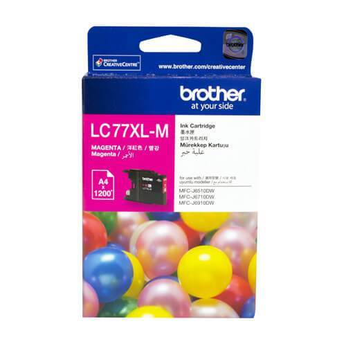 Brother LC-77XL Magenta Ink Cartridge LC-77XLM