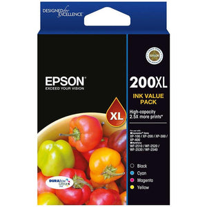 Epson 200XL 4 Ink Value Pack