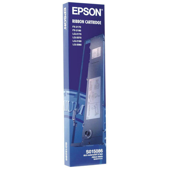 Epson S015086 Black Ribbon Cartridge