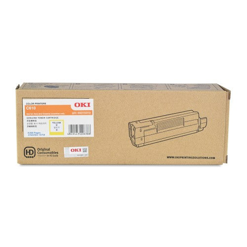 OKI C610 Yellow Toner 44315309 44315309 at $250.45