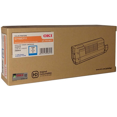 OKI C710N C711N Cyan Toner 44318611 44318611 at $323.25