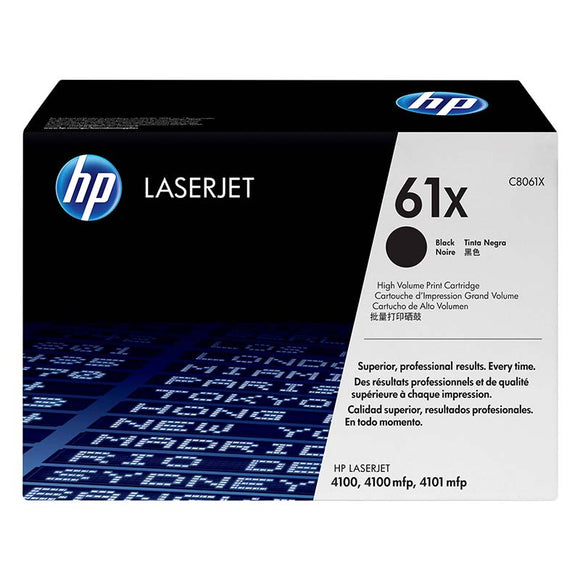 HP 61X Black Toner Cartridge C8061X C8061XAP at $35.67