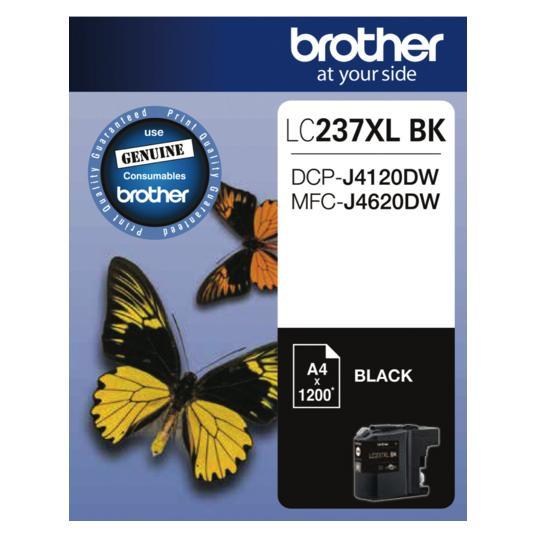 Brother LC-237XL Black Ink Cartridge LC-237XLBK LC237XLBK Brother, Ink Cartridges