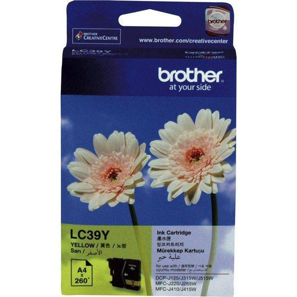 Brother LC-39 Yellow Ink Cartridge LC-39Y