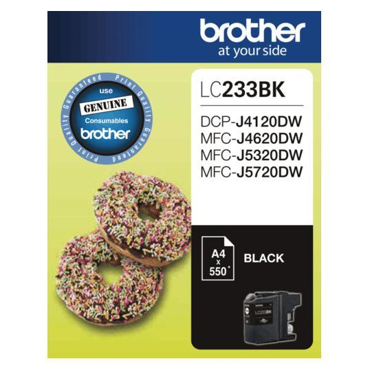 Brother LC-233 Black Ink Cartridge LC-233BK LC233BK at $48.89