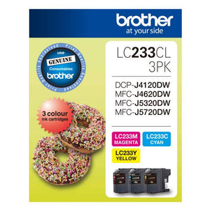 Brother LC-233 CMY Colour Pack LC-233CL3PK