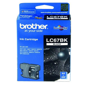 Brother LC-67 Black Ink Cartridge LC-67BK