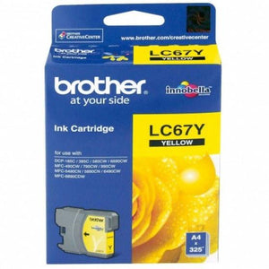 Brother LC-67 Yellow Ink Cartridge LC-67Y