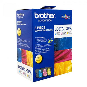 Brother LC-67 CMY Colour Pack LC-67CL3PK LC67CL3PK at $71.30