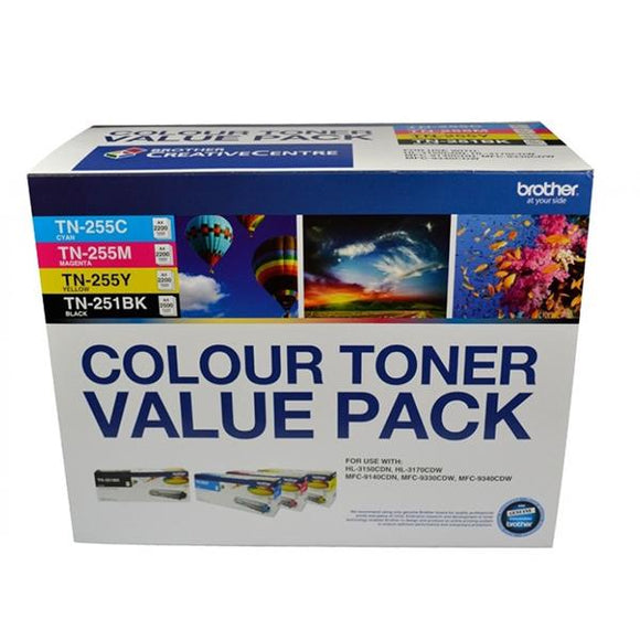 Brother TN-251 TN-255 Toner Value Pack