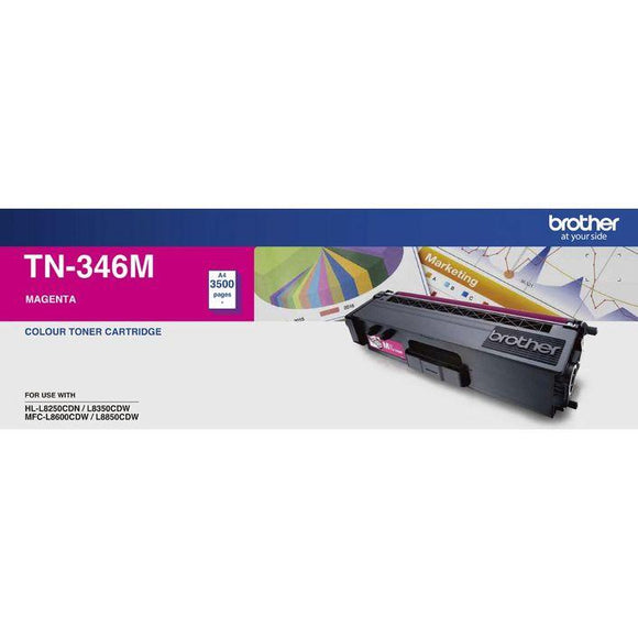 Brother TN-346 Magenta Toner Cartridge TN-346M
